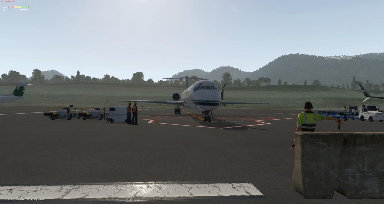 Mit der Default MD-82 von Anchorage nach Ketchikan 33962532gu