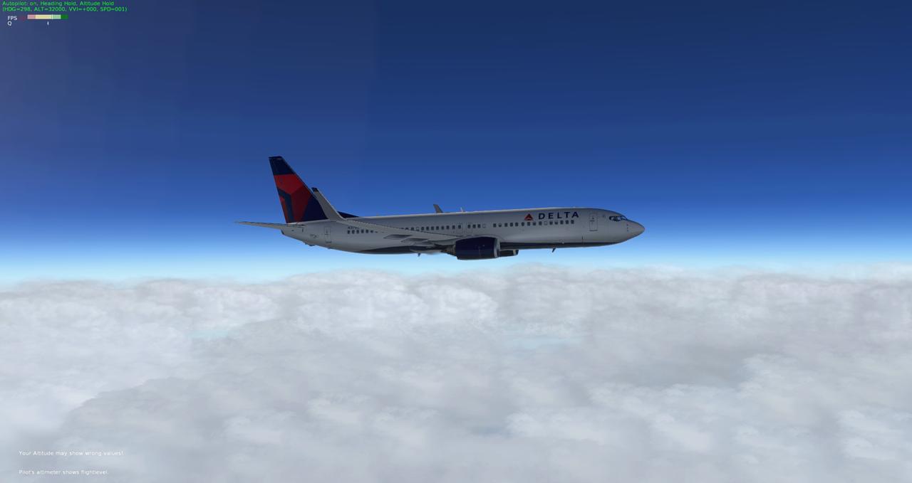 Mit der 737-800 Zibo von New York nach Chicago 34245434le