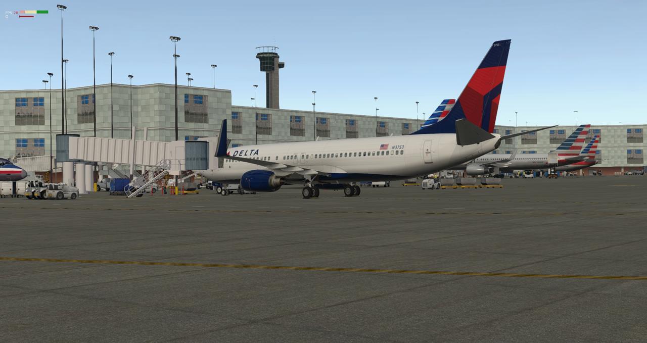 Mit der 737-800 Zibo von New York nach Chicago 34245487ts