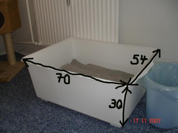 wer hat eine ikea box als katzenklo seite 6 katzen forum. Black Bedroom Furniture Sets. Home Design Ideas