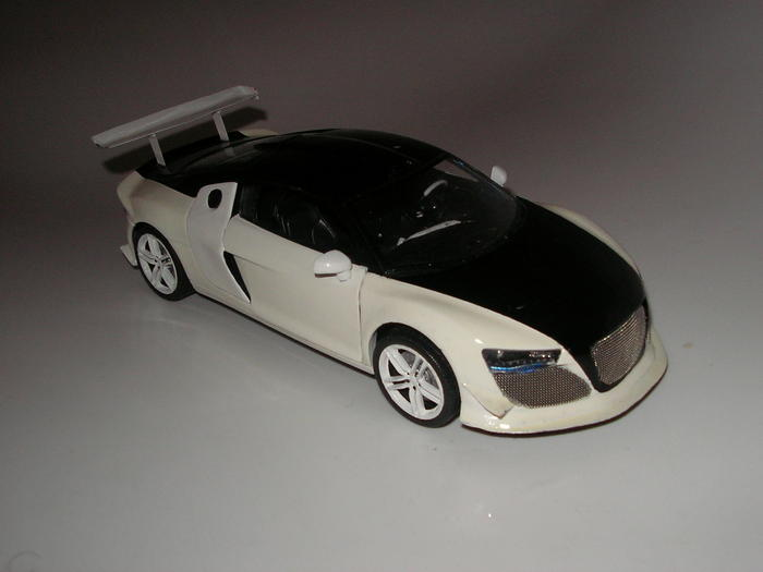 audi r8 schwarz wei modelcarforum. Black Bedroom Furniture Sets. Home Design Ideas