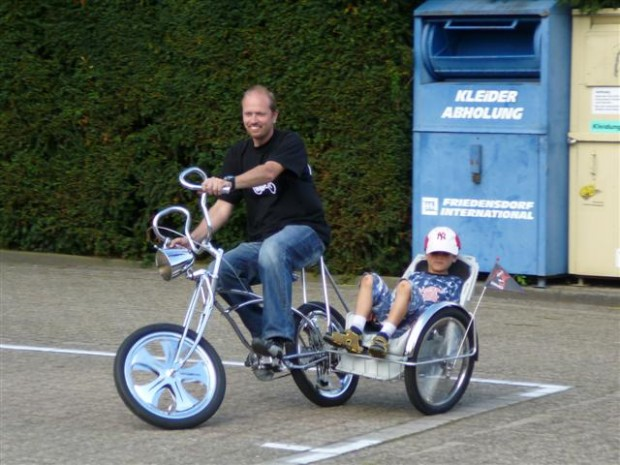 fahrrad mit seitenwagen