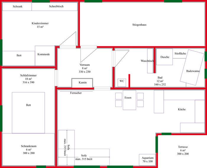 und weil ich den 2 stock auch gerade fertig habe stell ich den auch gleich an mit den angepassten fenstern - Feng Shui Schlafzimmer Plan