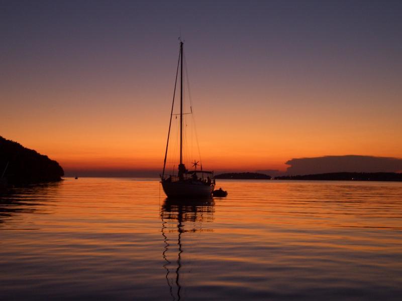 Sonnenuntergang Vrsa - Limski Fjord