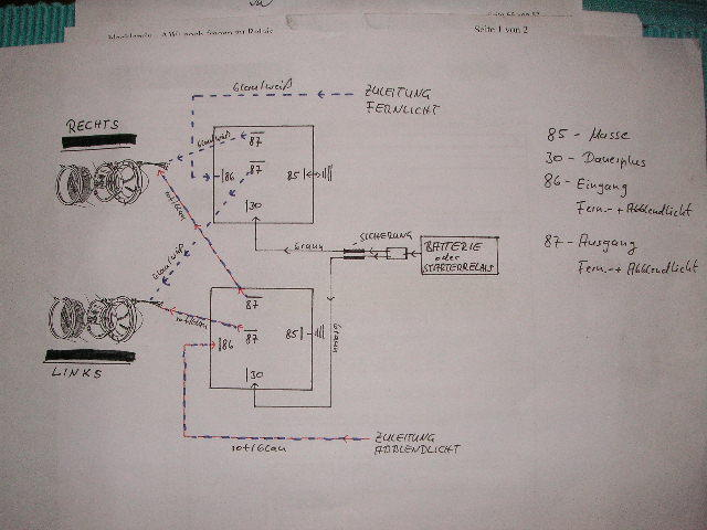 Fragen zu Relais Elektrik [Archiv] - blacklandy