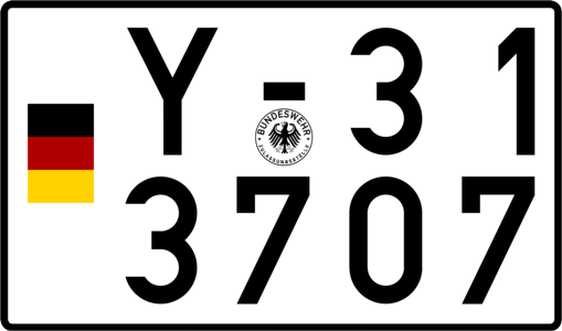Bundeswehr Kennzeichen Y