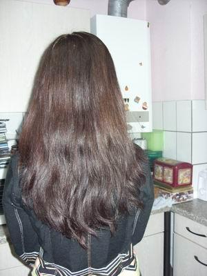 Braunes henna graue haare