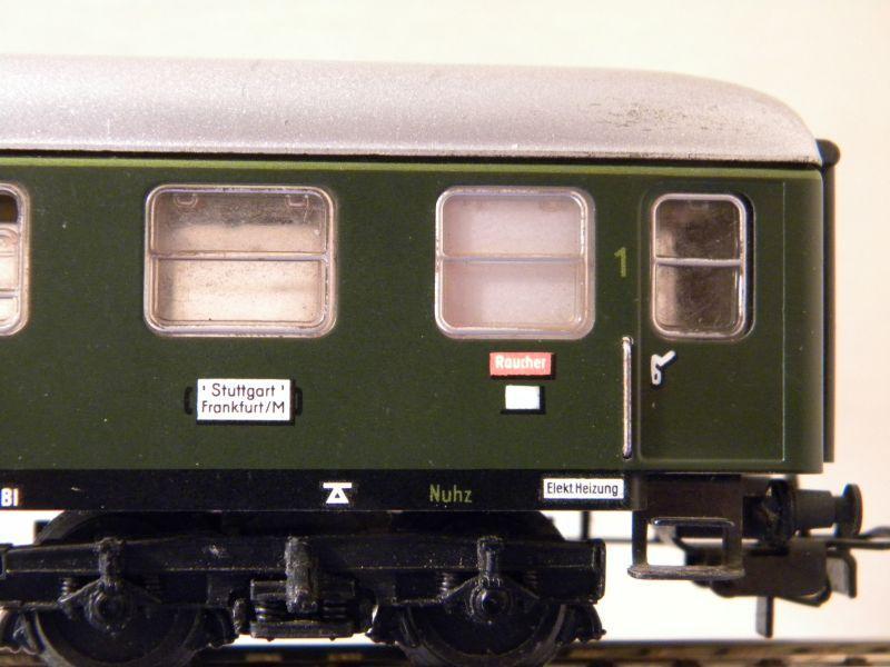 1. Klasse Wagen/grün und blau: DB 7385586hea