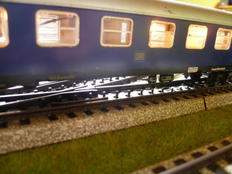 1. Klasse Wagen/grün und blau: DB 7394348zac
