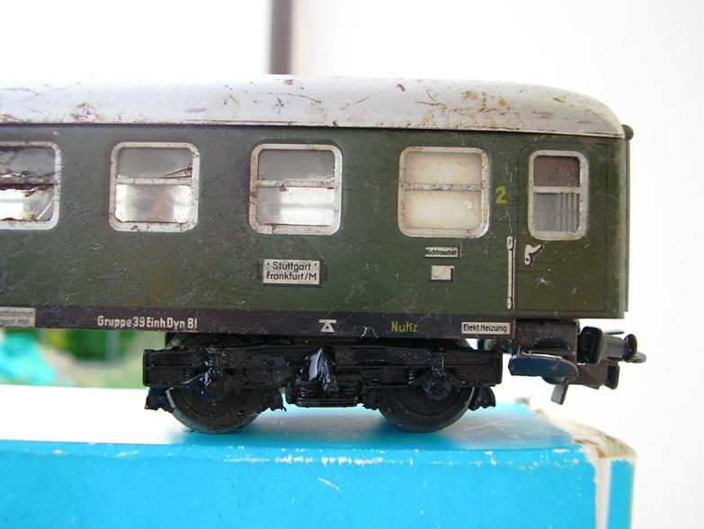 1. Klasse Wagen/grün und blau: DB 7395731vjc