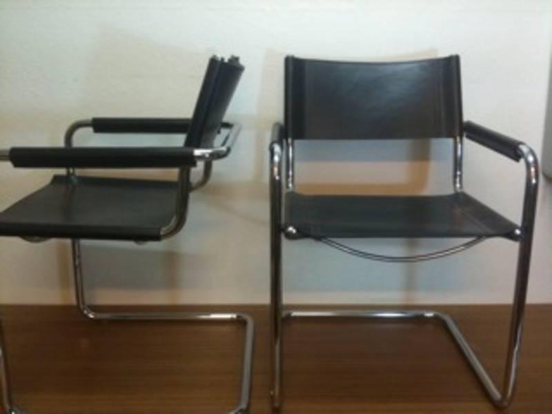 2 m grassi freischwinger bauhaus mart stam kernleder. Black Bedroom Furniture Sets. Home Design Ideas