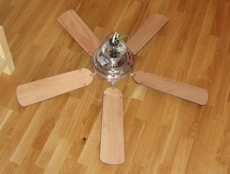 deckenventilator ventilator decke 120cm holz chrom ebay. Black Bedroom Furniture Sets. Home Design Ideas