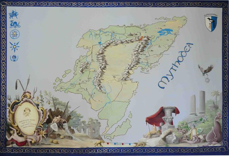 mythodea karte Live Adventure.de • Thema anzeigen   Die Karte von Mythodea   Maßstab