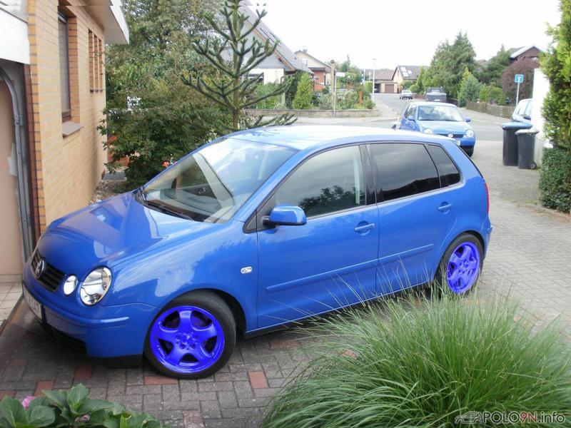 blaues auto felgenfarbe