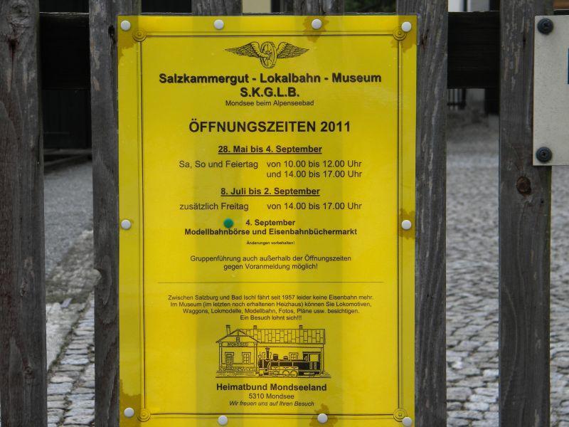 S.K.G.L.B.-Museum in Mondsee - Teil 1 (Salzkammergut Lokalbahn) 7964883xcv