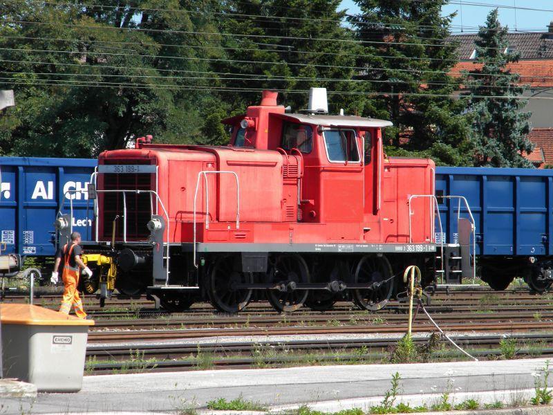 363 199-1 inkognito (?) bei Verschubarbeiten in Freilassing 8043190lki
