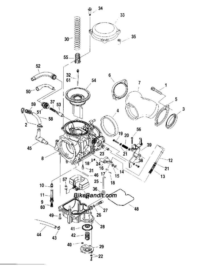 harley evolution engine exploded view  diagram  auto