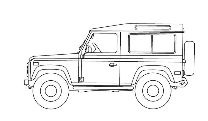 free coloring pages of land rover