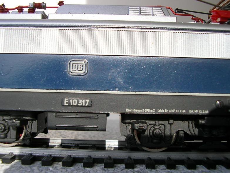 DB  E 10 317 Bügelfalte blau (Guss!) 8617246fqd