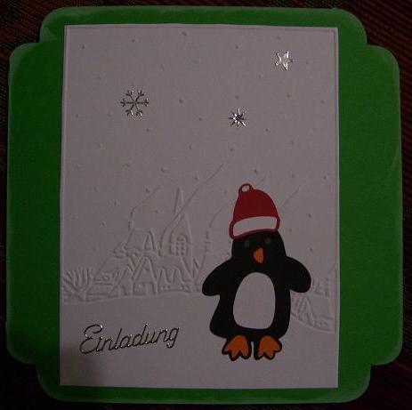 3D-Katzen und Pinguin-Einladung 8984136bey