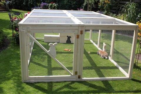 gehegebau am zaun kaninchen forum by sweetrabbits. Black Bedroom Furniture Sets. Home Design Ideas