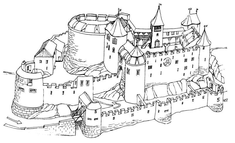 malvorlagen mittelalterliche stadt  coloring and malvorlagan