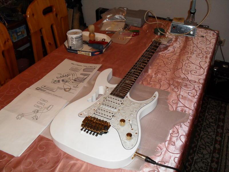Halbfertige Bausatzgitarre: Tonregler geht nicht