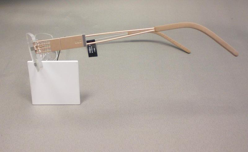 Original Bajazzo Brillenfassung Brille AV 25 Farbe FB gold silber matt L1mxBg