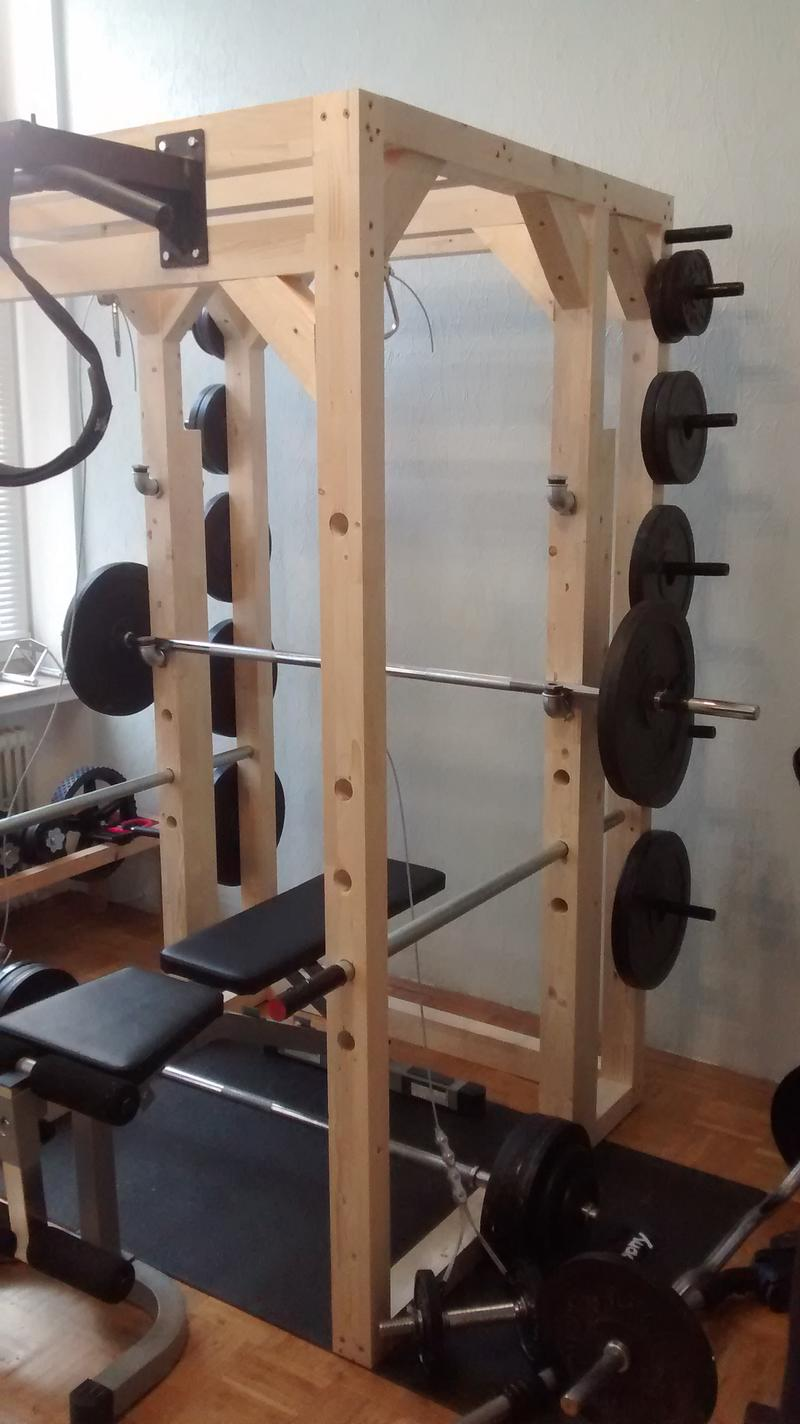 mein selbst gebautes power rack aus holz allgemeine trainingsfragen. Black Bedroom Furniture Sets. Home Design Ideas