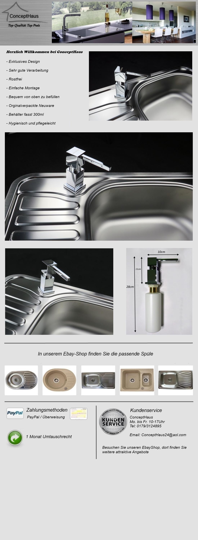 Spülmittelspender Seifenspender Küche Spüle Dispenser Spülbecken ...