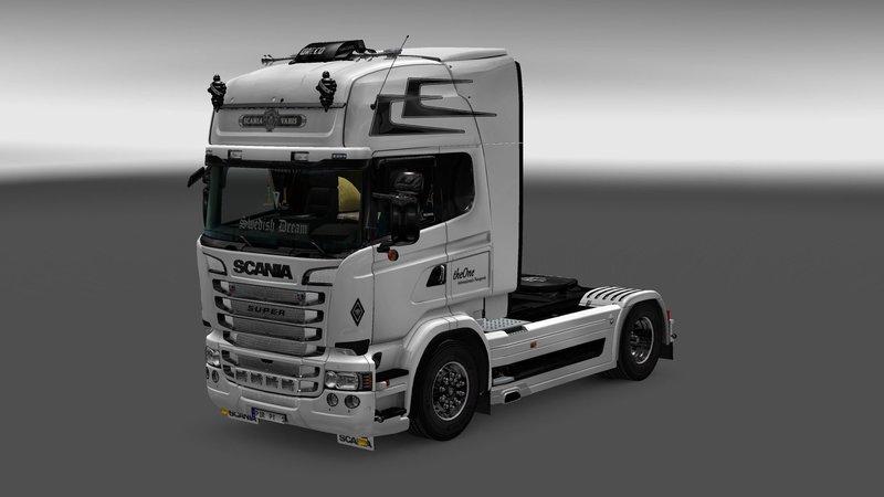 scania karta White Scania Skin   SCS Software scania karta