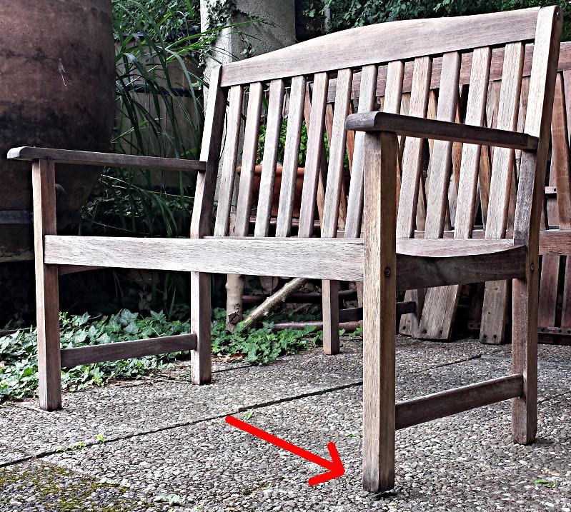 Hervorragend Gartenbank retten: Bein morsch QN29