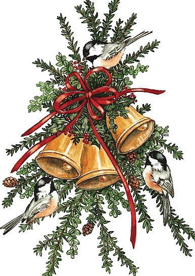 Открытки с колокольчиками рождественскими, бересты