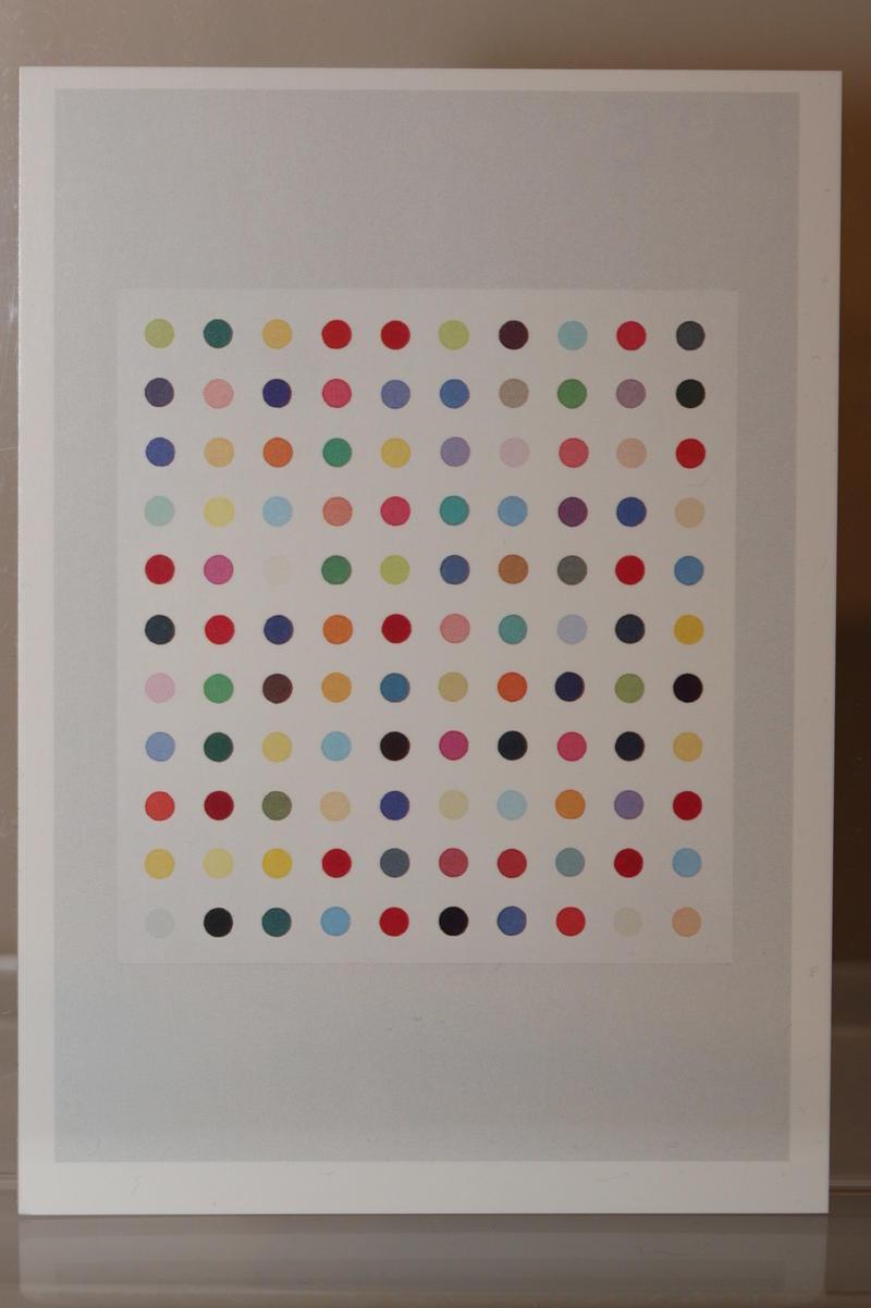 """NEW exhibition /""""Arg-Glu/"""" limited Art-Postcard DAMIEN HIRST"""