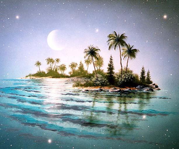 Остров картинка анимация, поздравления марта