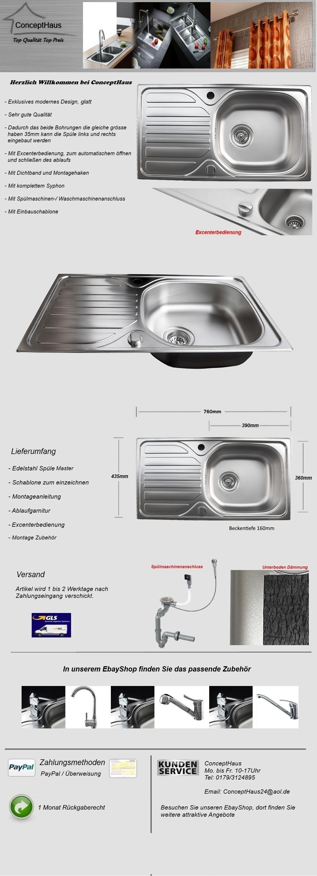 Edelstahlspüle Master in GLATT Küchenspüle Einbauspüle Spüle ...