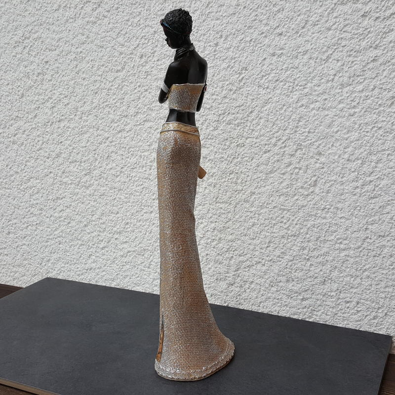 afrikanische frau deko figur afrikanerin skulptur massai. Black Bedroom Furniture Sets. Home Design Ideas