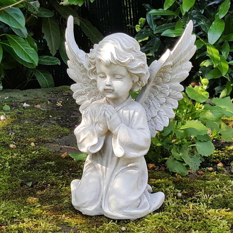 eden engel garten dekofigur engelsfigur cherubim statue engels skulptur grabdeko 7330004031551. Black Bedroom Furniture Sets. Home Design Ideas