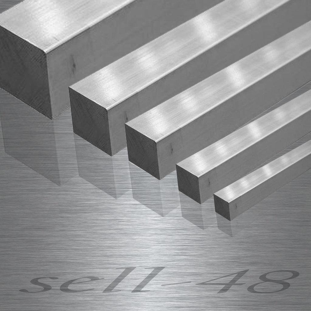 L: 800mm Edelstahl Vierkant VA V2A blank h11-8x8mm auf Zuschnitt 80cm