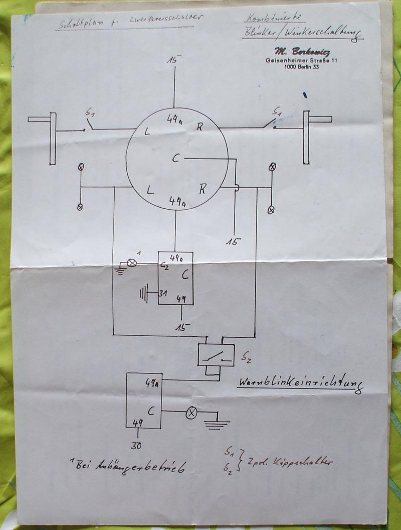Schaltplan Blinker Traktor Ohne Warnblinker - Wiring Diagram