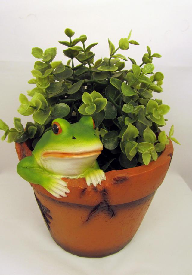 Garten Deko Figur Blumentopf Frosch Fr Sche Bertopf