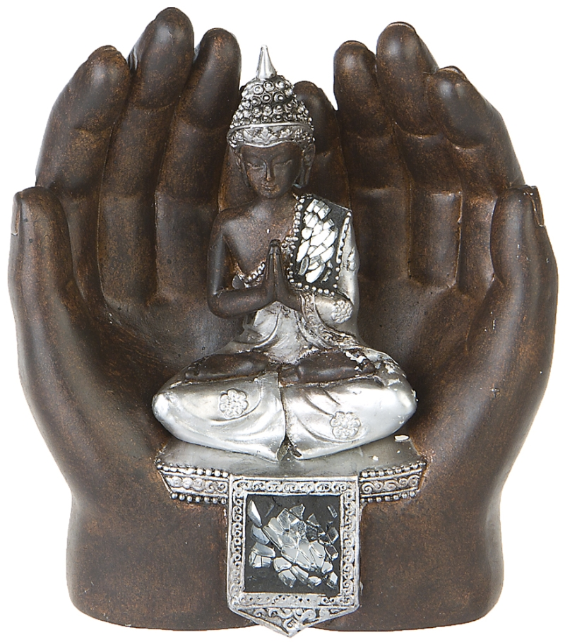 thai buddha in h nden deko figur feng shui skulptur budda statue buddhismus 164 ebay. Black Bedroom Furniture Sets. Home Design Ideas