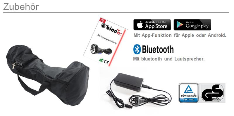 testsieger binntec hoverboard scooter samsung app. Black Bedroom Furniture Sets. Home Design Ideas