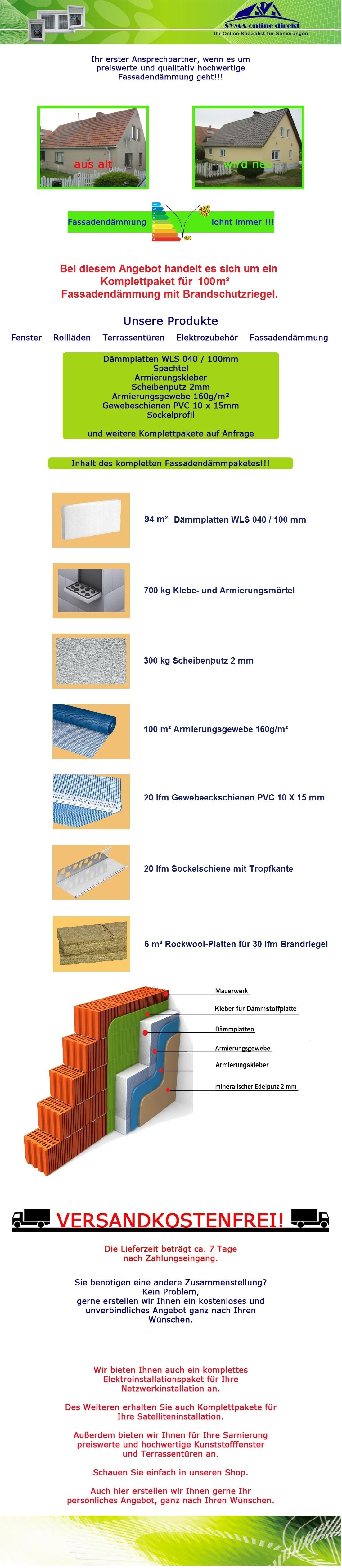 Wdvs Fassaden Brandriegel Paket 100 M² 100mm 040 146341 Ebay