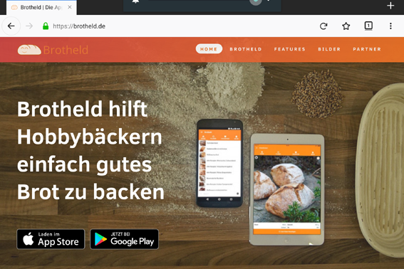Präsidentenbaguette mit der Brotback-App