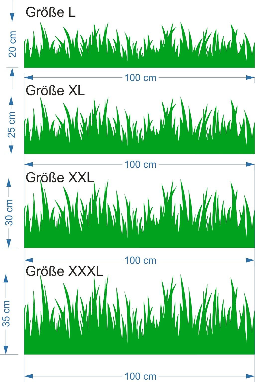 Blickfang Wandtattoo Gras Beste Wahl Mit Größe Und Bemaßung Photo Gras_mit Maszligen