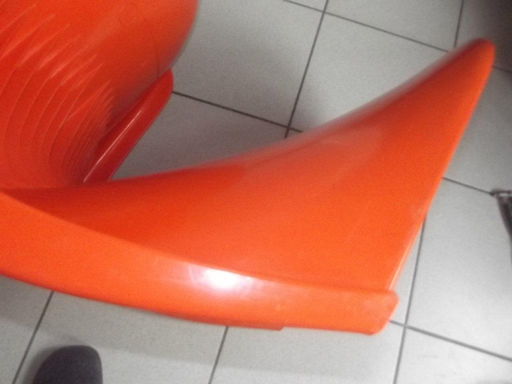 original verner panton chair herman miller fehlbaum 1972 orange 70er vintage ebay. Black Bedroom Furniture Sets. Home Design Ideas