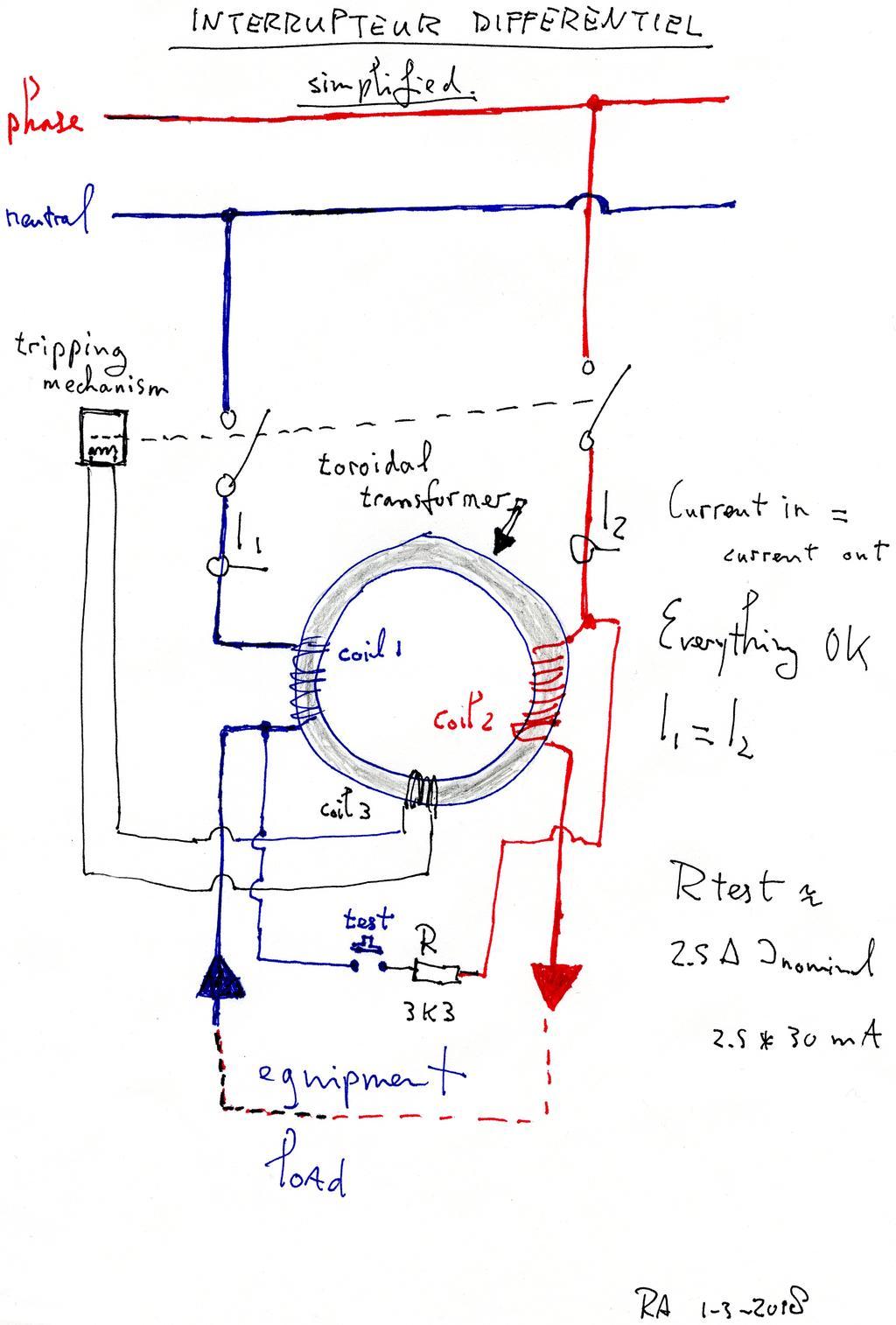 wiring an interrupteur differentiel. Black Bedroom Furniture Sets. Home Design Ideas