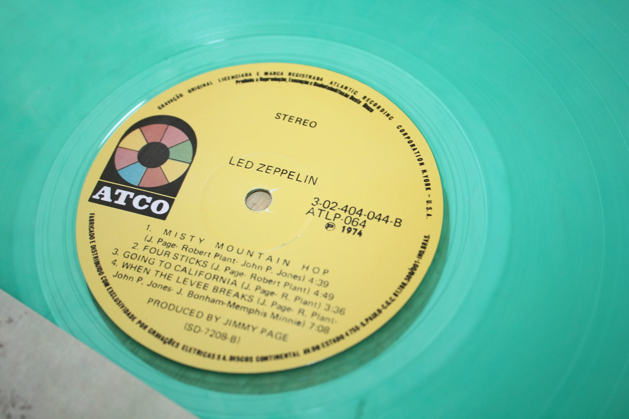 Led Zeppelin Iv Top Atco Brazil Color Hard Rock Vinyl