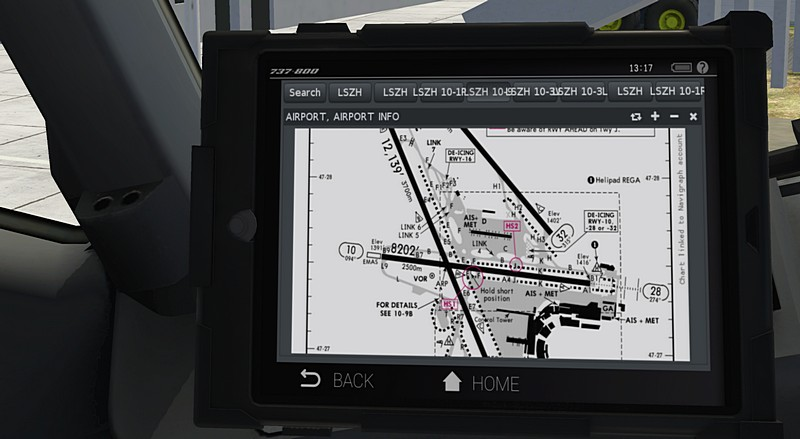 AviTab: VR-compatible tablet with PDF viewer, moving maps